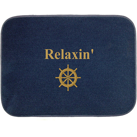 Custom Embroidered Boarding Mat Rectangular Boaters