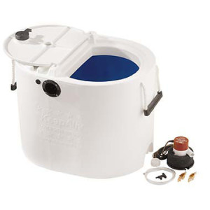 14 Gallon KeepAlive Bait Well System, White with Blue Interior, Complete