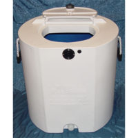 30 Gallon White with Blue Interior Bait Tank