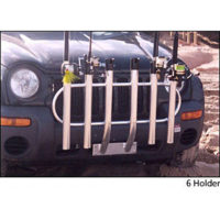 Front bumper mount rod holders