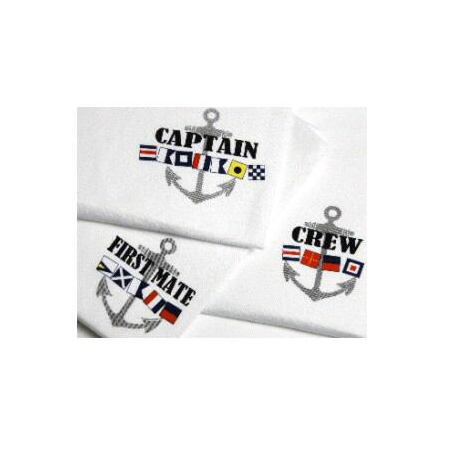 Captain, First Mate, and Crew Flag Tee Shirts