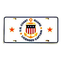 USCG Licensed Captain License Plate