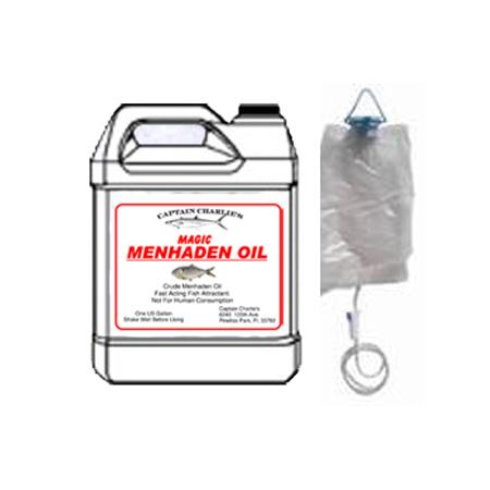 Captain Charlie S Magic Menhaden Oil 1 Gallon With Iv Bag Dispenser