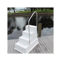 Four Step Fiberglass Boarding Stairs