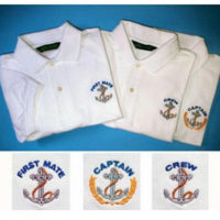 Captain, First Mate, and Crew Polo Shirts
