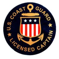 USCG Licensed Captain Decals