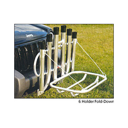 Rod and Reel Holders Truck Bumper Mount Fold Down
